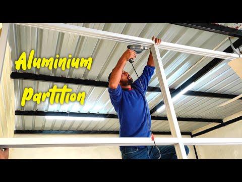 How to Make Aluminum Partition/Aluminium Partition कैसे बनाते हैं
