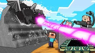 Minecraft - TSUNAMI ENDER DRAGON BASE CHALLENGE! (Build to Survive)