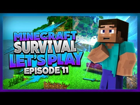 Minecraft Survival Let's Play | Continuing Building Enchanting Room and Kitchen Area[Episode 11]