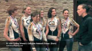 D1 USA Cycling National Team Trial Champions University of California Davis