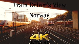 Train Driver's View: Ål - Bergen with summer vibe, sunset & side views