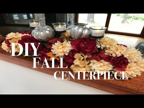 DIY FALL CENTERPIECE | Dollar Tree DIY | Fall home decor collab