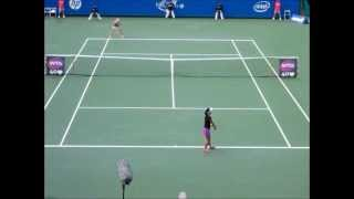 ■ HP JAPAN WOMEN'S OPEN TENNIS 2013 ■ EUGENIE BOUCHARD VS NARA KURUMI