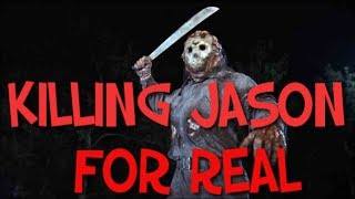 WORLD'S FIRST *REAL* JASON KILL!! (Jason fighting back!) Friday the 13th Game