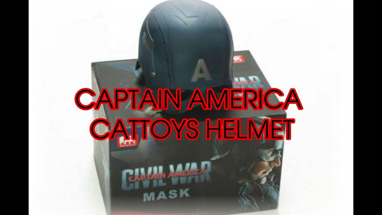 Captain America CIVIL WAR MaskHelmet review  YouTube
