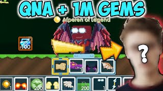 Alperen Face Reveal + Buying 1m Gems ( Qna + 100dls Giveaway )  GrowTopia