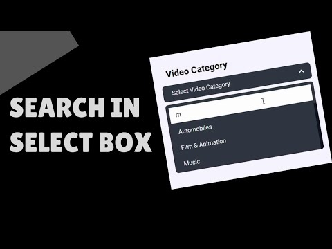 How To Add Search Functionality To Select Box (HTML, CSS & Vanilla JS)