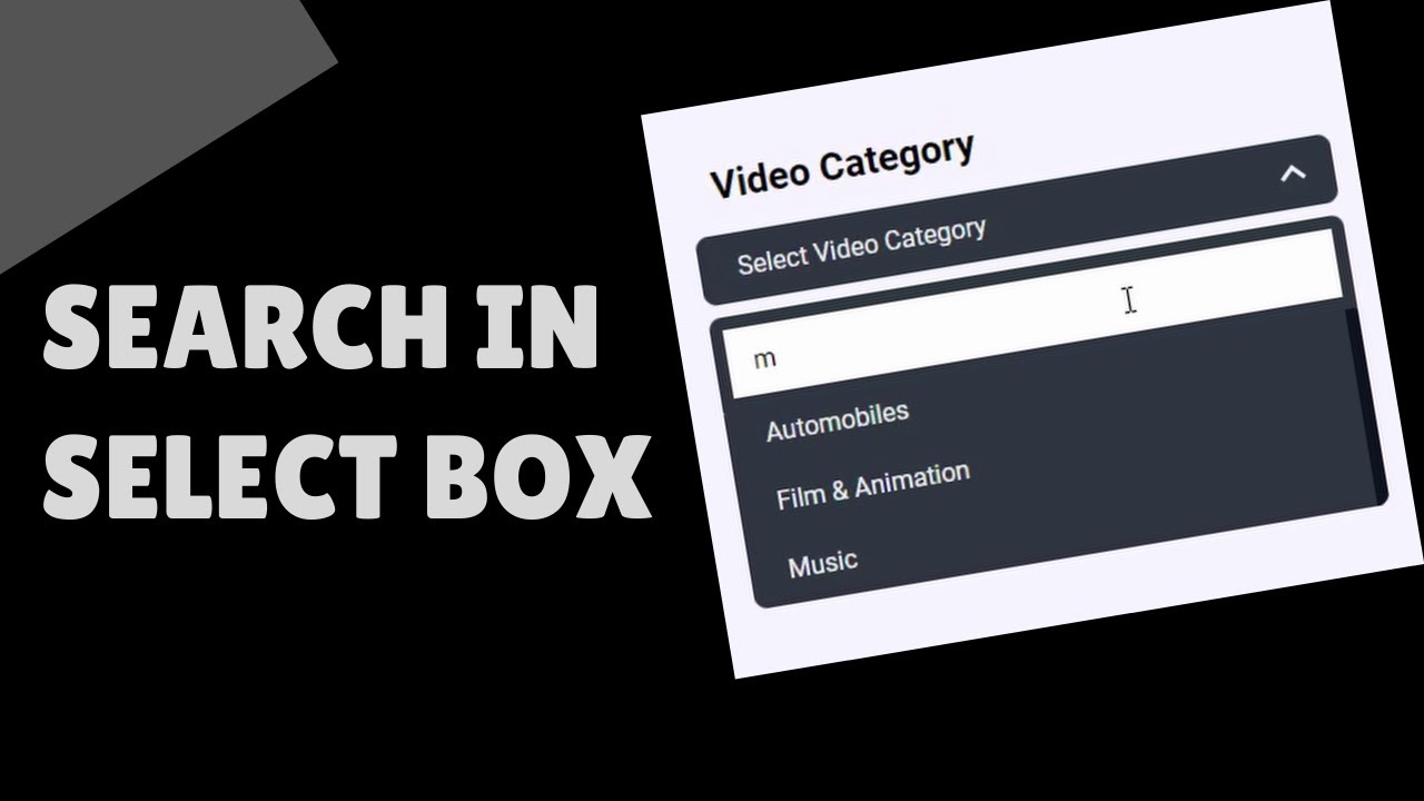 How To Add Search Functionality To Select Box (HTML, CSS ...