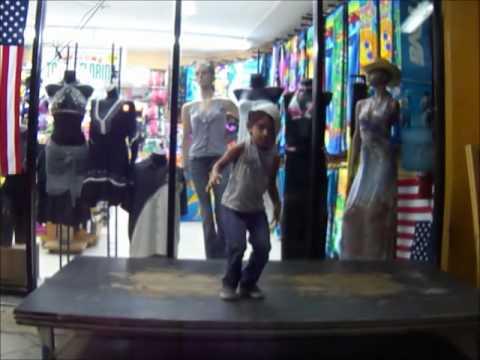 Santiago Dancing on Random stage on Ocean Drive.wm
