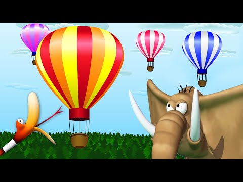 Gazoon: Wild Animals And Hot Air Balloon ? Funny Animal Cartoon Show ?  Cartoon For Kids