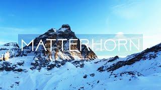 Skiing around Matterhorn (DRONE)