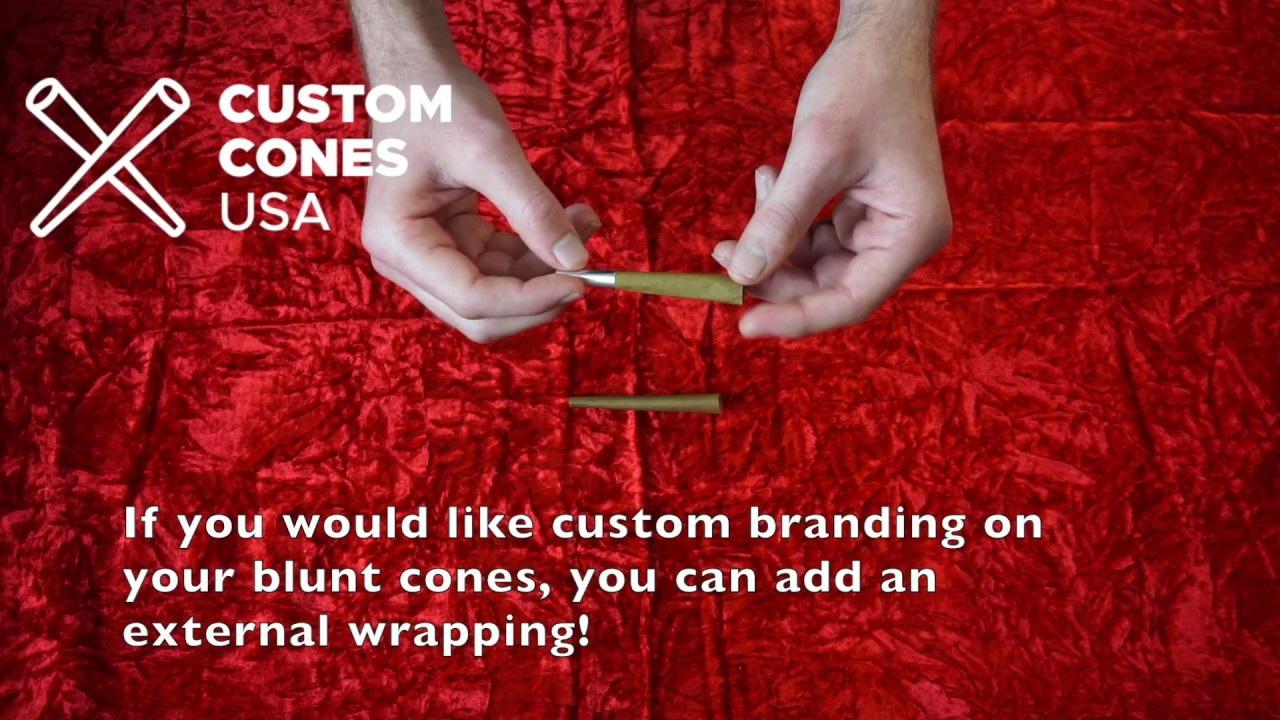 Blunt Cones - 84mm Hemp Wrap Blunt Cones | Custom Cones USA