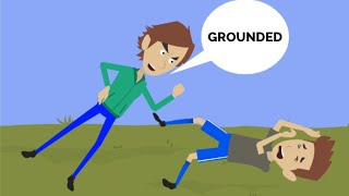 Classic Caillou gets Grounded to the GROUND!!!