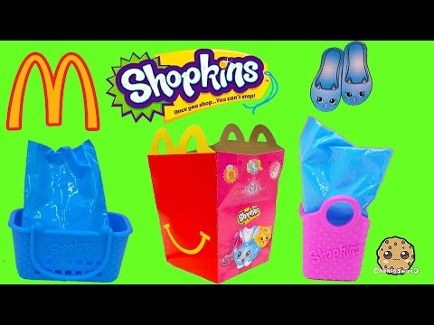 Rare Mcdonalds Fast Food Happy Meals Exclusive Shopkins Seasons 1, 2, 3, 4 Toy  Blind Bags Video