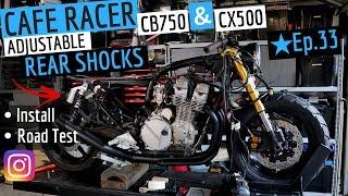 Cafe Racer Rear Shocks Honda CB750 & CX500 Installation and Road Test