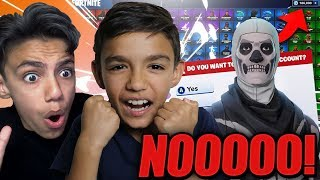 Little Kid Threatens To Delete My Fortnite Account! (GONE WRONG)