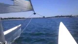 Sailing On Mission Bay Hobie Cat 18