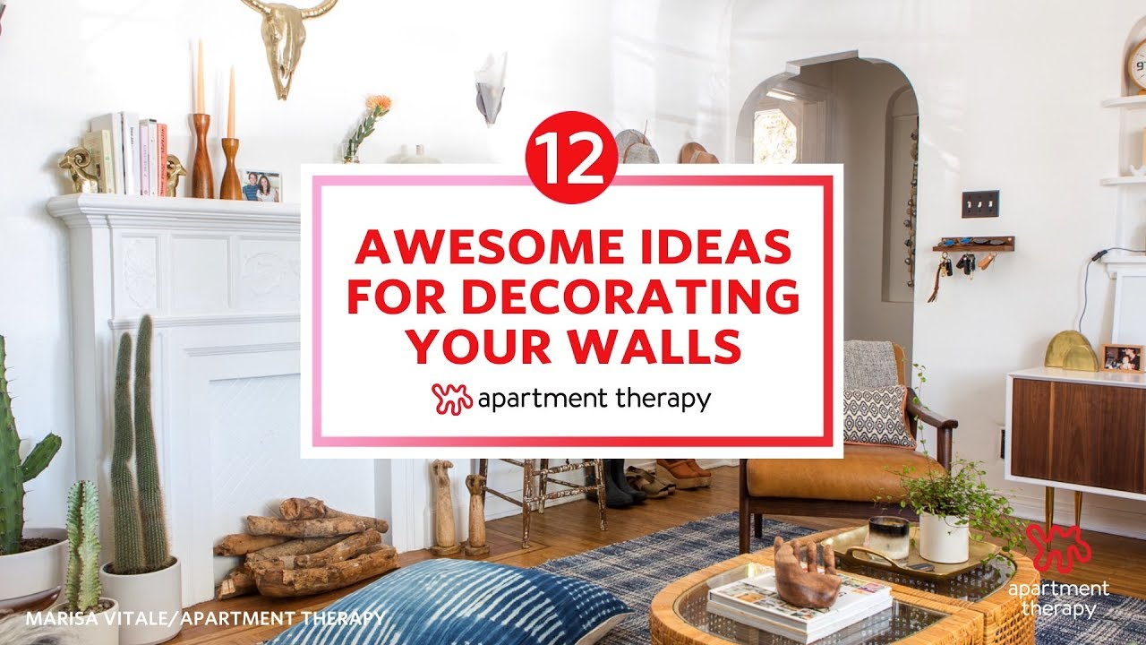 12 Awesome Ideas For How To Decorate Your Walls Youtube