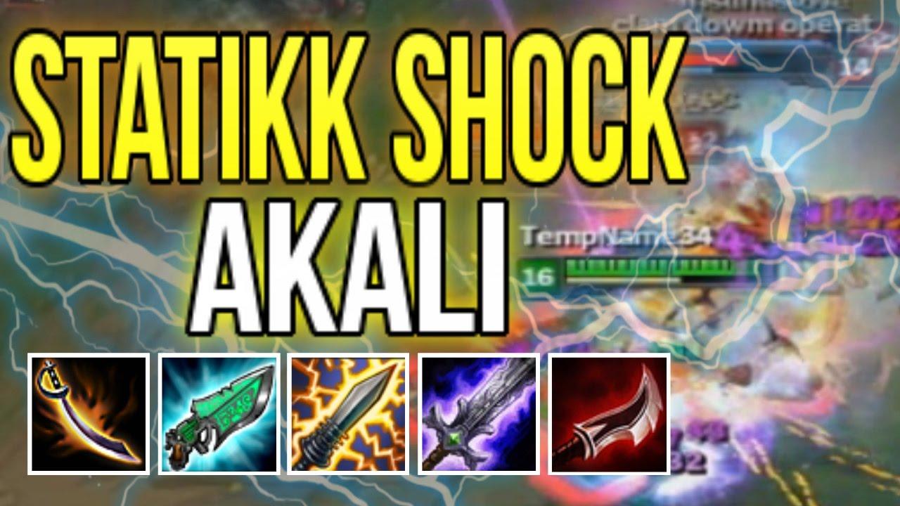 STATIKK SHOCK AKALI BUILD IS ELECTRIC! 12 SOURCES OF INSTA-BURST! (AKALI  BUILD CHALLENGE)