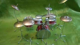 Como Fazer Bateria Musical de Latinhas 08 Peças – parte 1