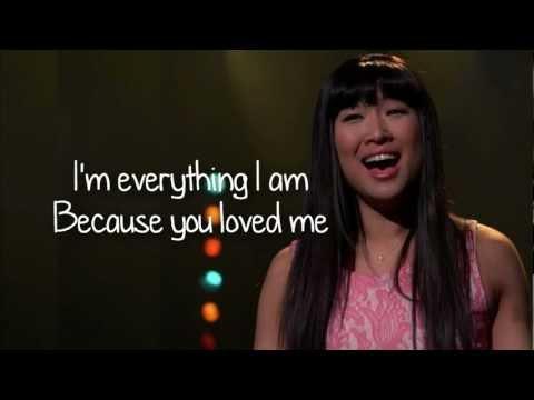 Glee - Because You Loved Me (Lyrics)