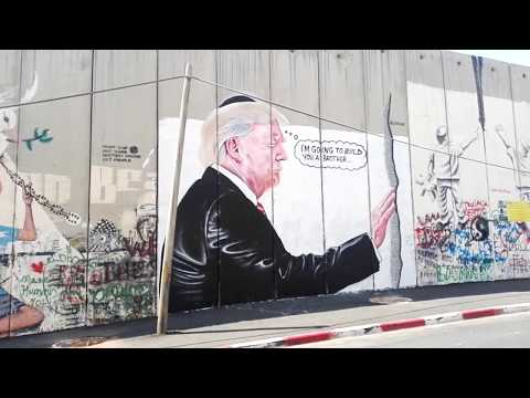 Graffiti Resembling The Work Of Banksy (?) Has Appeared On Israel's Security Wall At Bethlehem.