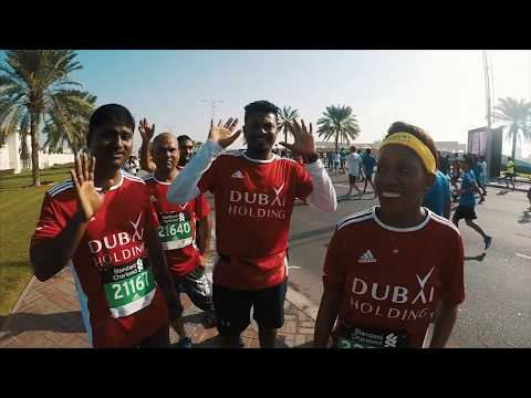 Dubai Marathon 2018 - Our Colleague's POV from Start to Finish