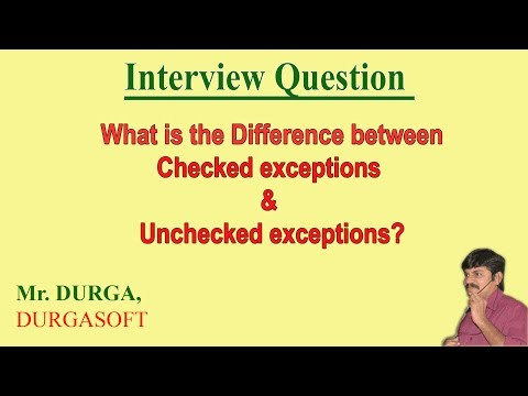 Difference between Checked exceptions and Unchecked exceptions