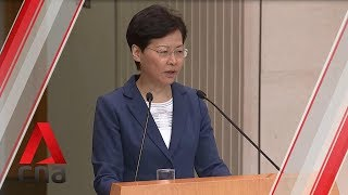 Carrie Lam defends Hong Kong police conduct after weekend of clashes