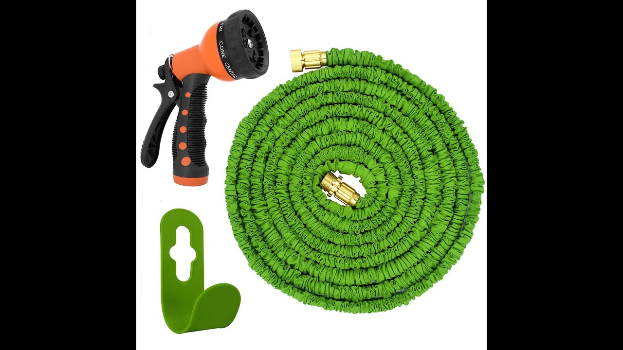 Magic Vida Expandable Garden Hose 50 Feet Spray Nozzle Double