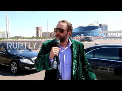 Nicolas Cage is loving Astana while becoming internet sensation