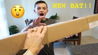 We Surprise Him with a New Baseball Bat