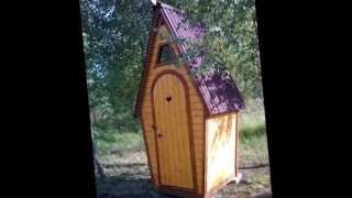 Как построить  деревянный туалет на даче  Дизайн уличного туалета(Самой первой и необходимой постройкой на дачном участке-это, конечно же, уличный туалет. Самым распростране..., 2016-02-18T20:50:17.000Z)