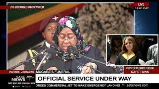 Tanzania's VP Samia Suluhu pays tribute to Mugabe