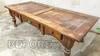 How to Refinish a Coḟfee Table for Beginners
