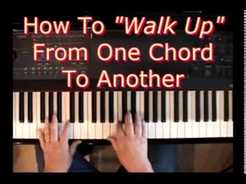 How To Walk Up From One Chord To Another Youtube