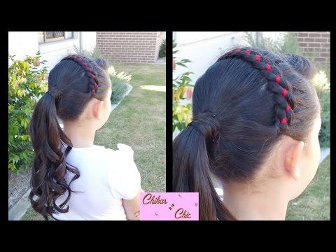 ribbon-headband-into-curly-ponytail!-|-braided-hairstyles-|-headband
