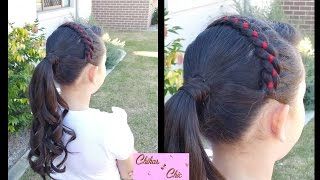 Ribbon Headband into Curly Ponytail! | Braided Hairstyles | Headband