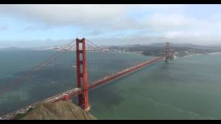 12,000 ft Across the Golden Gate Bridge - Aerial in 4k