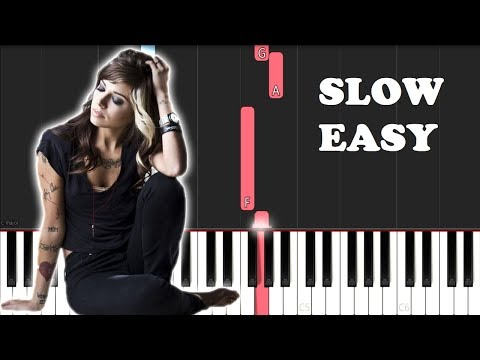 Christina Perri - A Thousand Years (SLOW EASY PIANO TUTORIAL)