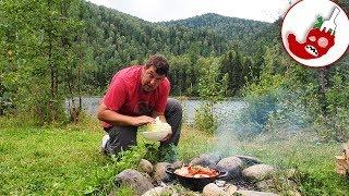 Алтайская дымляма без мяса или овощное рагу в казане на костре