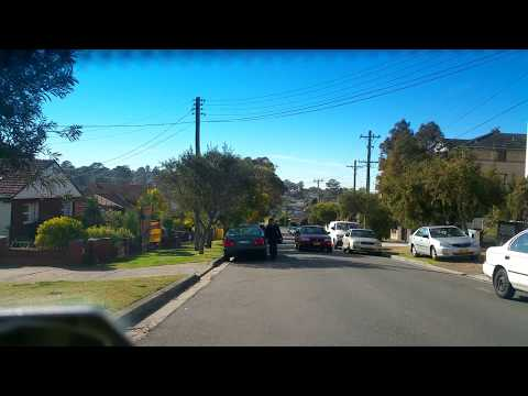 Road Drive through Sydney suburb blacktown