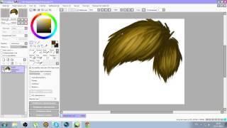 Как рисовать волосы в PaintToolSai(, 2014-11-23T09:43:28.000Z)