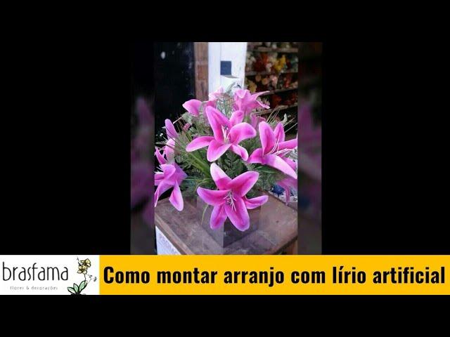 ARRANJO COM LIRIO TOQUE REAL| Inscreva-se no canal e compartilhe...