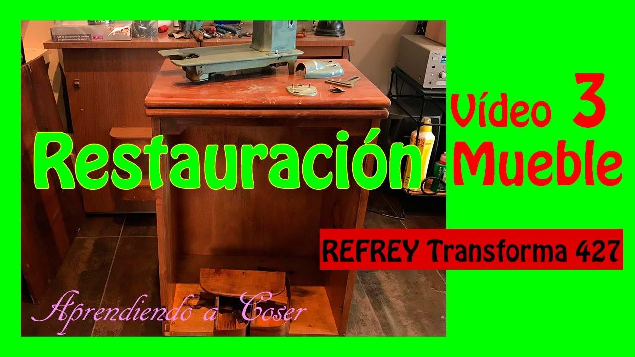 #3 Restaurar Mueble antiguo de Máquina de Coser Refrey