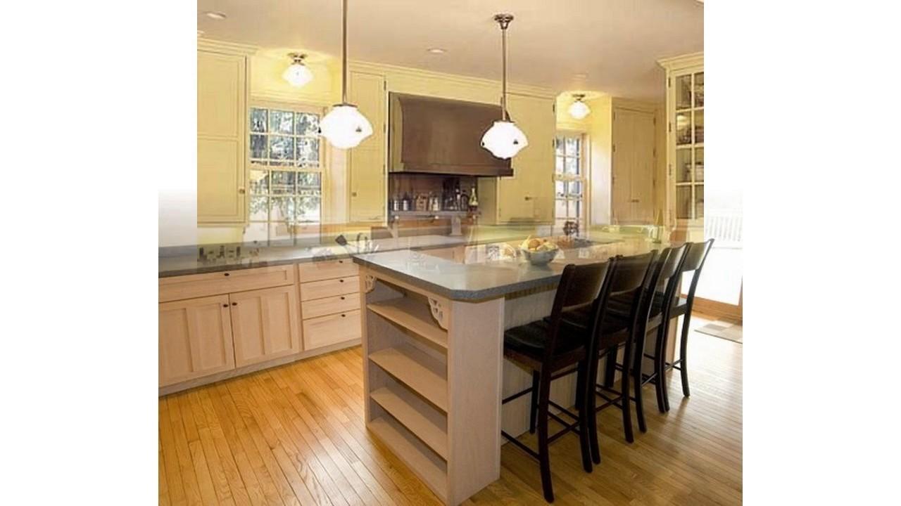 les meilleures id es d 39 le de cuisine avec des si ges youtube. Black Bedroom Furniture Sets. Home Design Ideas