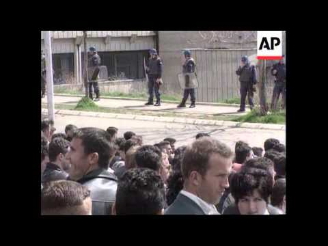 Kosovo - Serb students stage protests