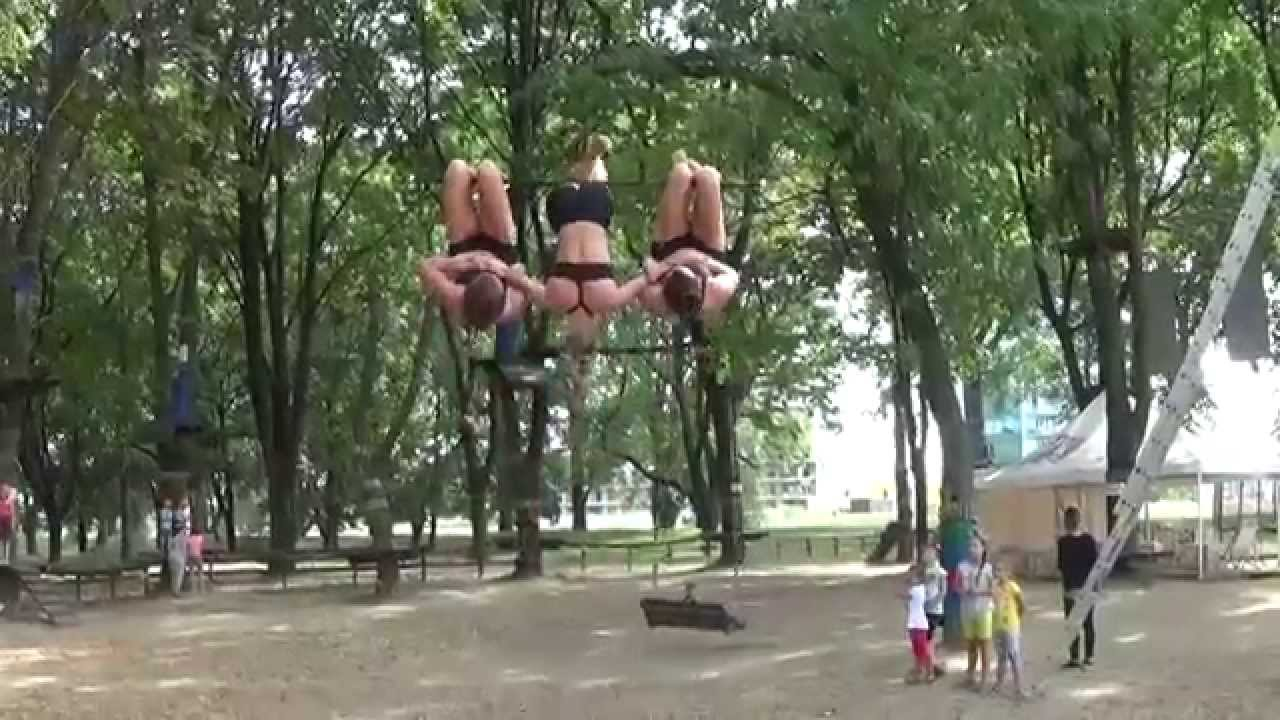 Triple Trapeze Training by Trio Etc Acrobat Team from ...