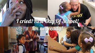I Cried! ❤️First Day Of School! Im Not Ready!| interracial family vlogs