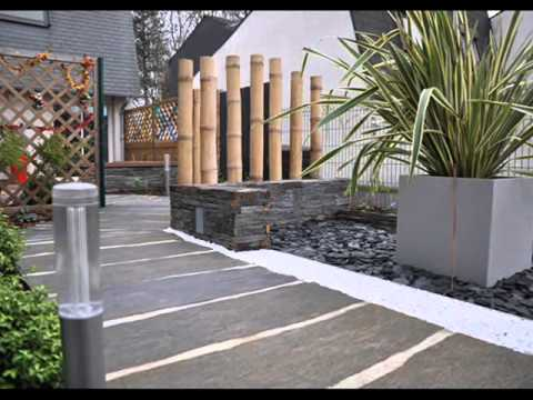 Amenagement entree pietonne youtube for Amenagement exterieur jardin zen
